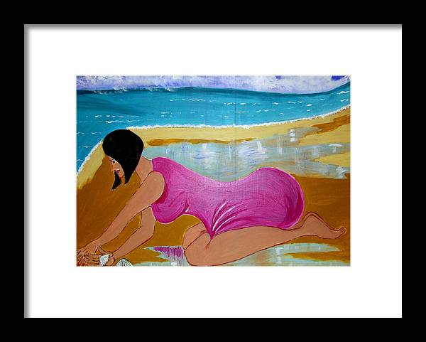 Dreams Framed Print featuring the painting Seashells by Rusty Gladdish