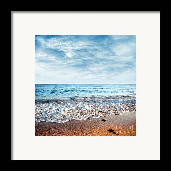 Background Framed Print featuring the photograph Seashore by Carlos Caetano