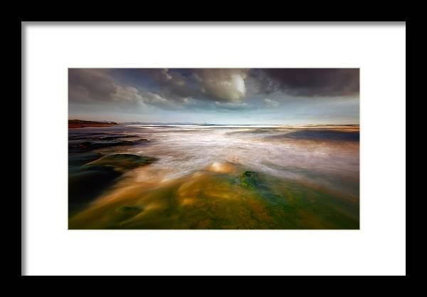 Seaside Framed Print featuring the photograph Seaside Abstraction by Piotr Krol (bax)