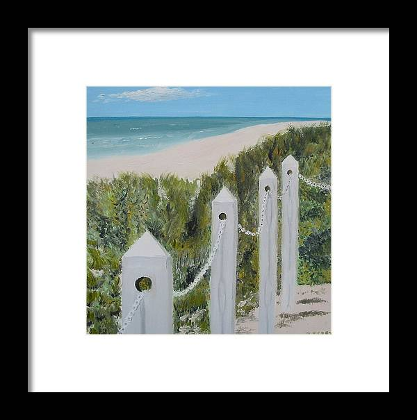 Seascape Framed Print featuring the painting Seaside II by John Terry
