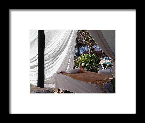 Beach Framed Print featuring the photograph Seaside Massage by Lois Lepisto
