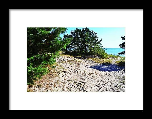 Seaside Framed Print featuring the photograph Seaside Path by HazelPhoto