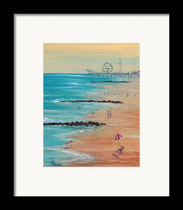 Beach Framed Print featuring the painting Seaside by Pete Maier