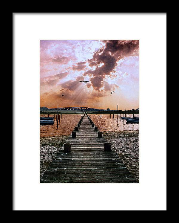 Seascape Framed Print featuring the photograph Seaside by Steve Karol