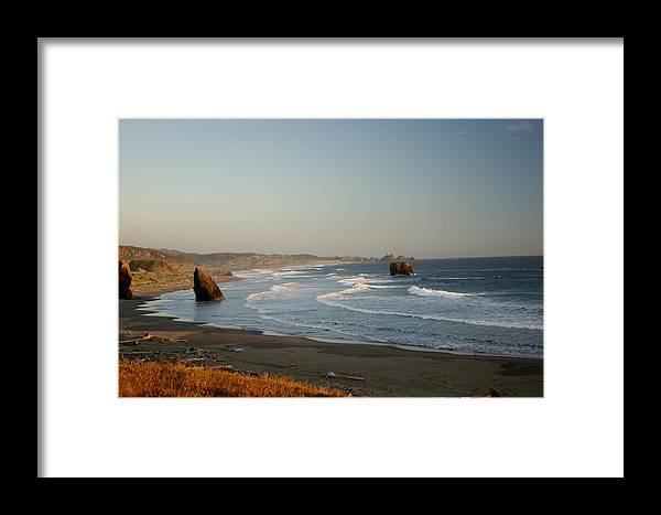 Beach Framed Print featuring the photograph Seaside Sunset by Beth Collins