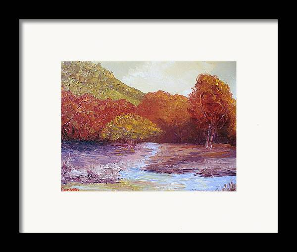 Landscape Framed Print featuring the painting Season Change by Belinda Consten