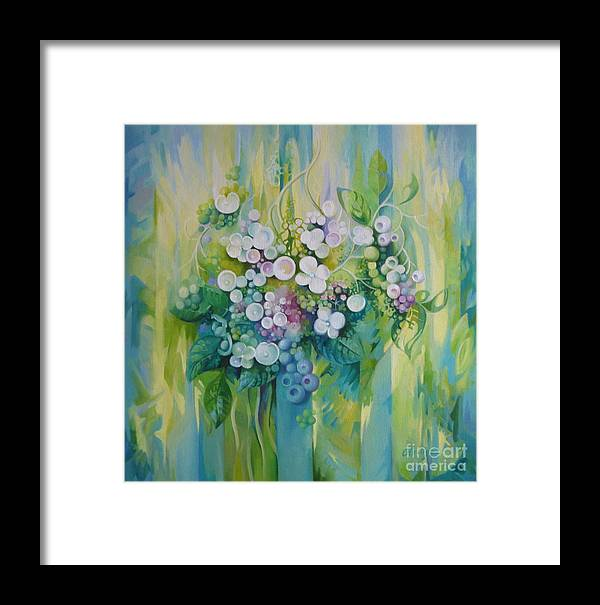 Flowers Framed Print featuring the painting Season by Elena Oleniuc