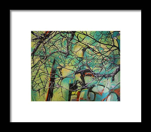 Spring Framed Print featuring the painting Seasons Spring by Gary Cadwallader