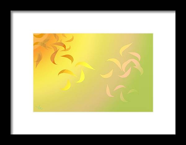 Inches. Framed Print featuring the digital art Seasons by Victor Shelley