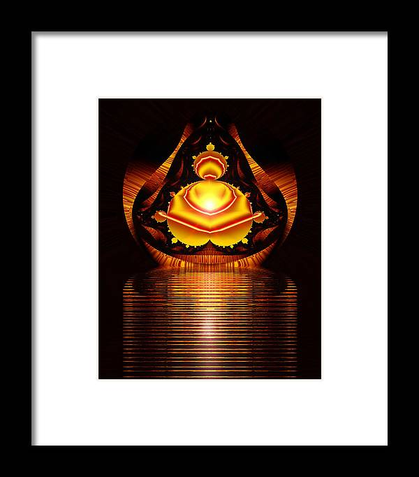 Digital Framed Print featuring the digital art Seated Buddha by Roger Soule