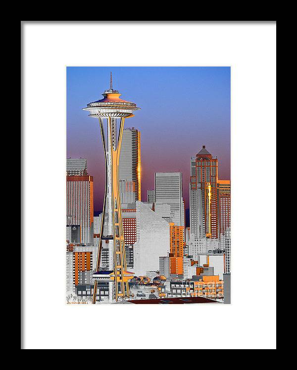 Seattle Framed Print featuring the photograph Seattle Architecture by Larry Keahey