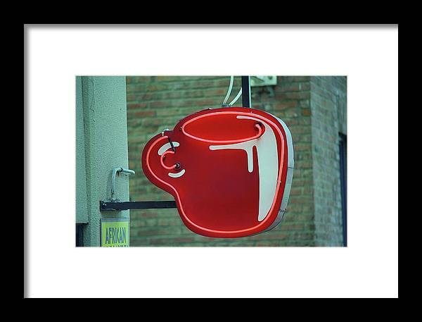 America Framed Print featuring the photograph Seattle Coffee Shop by Frank Romeo