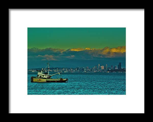 Washington Framed Print featuring the photograph Seattle Evening by Dale Stillman