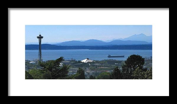 Seattle Framed Print featuring the photograph Seattle From Above by Jeffery Ball