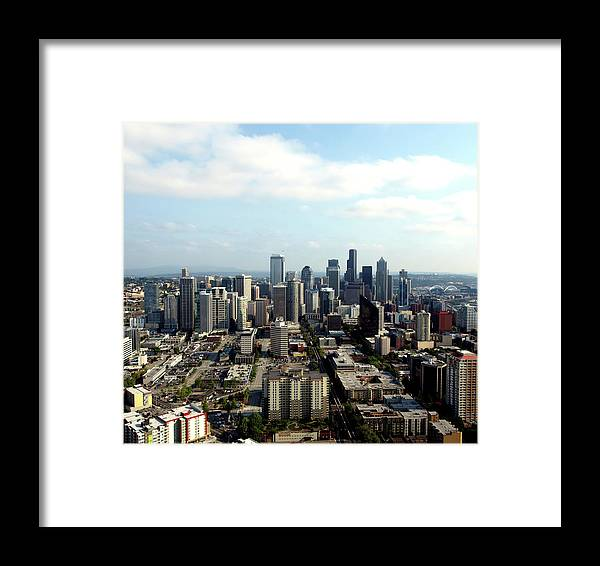 Seattle Framed Print featuring the photograph Seattle From Above by Terrie Stickle