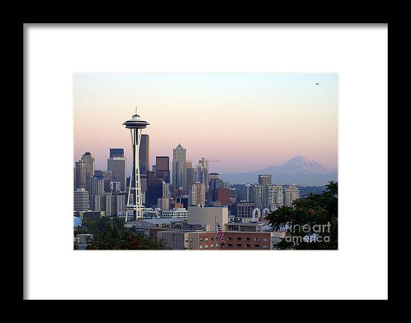 Mountain Framed Print featuring the photograph Seattle by Larry Keahey