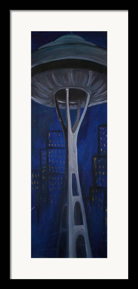 Seattle Framed Print featuring the painting Seattle by Lauren Luna