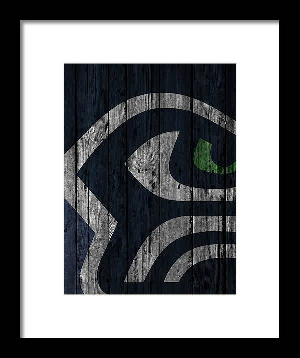 Seahawks Framed Print featuring the photograph Seattle Seahawks Wood Fence by Joe Hamilton