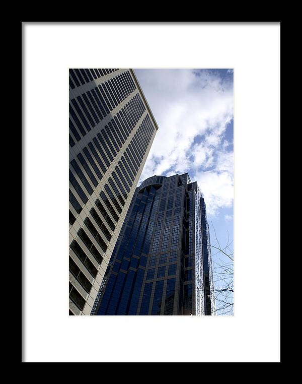 Architecture Framed Print featuring the photograph Seattle Skyscrapers by Sonja Anderson