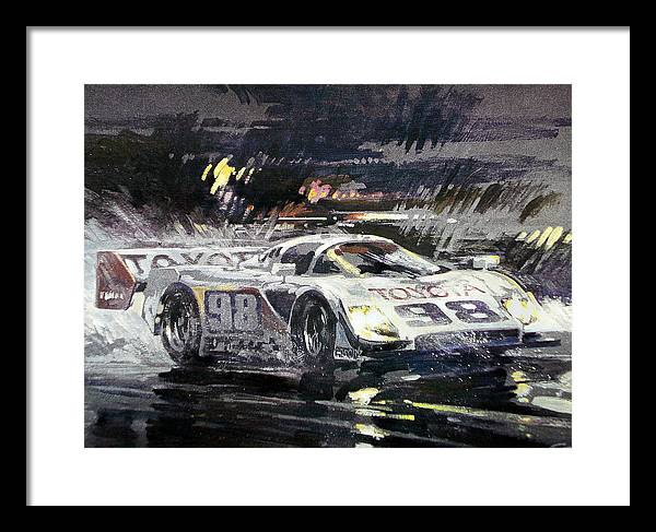 Automotive Painting;acrylic Painting;race Car;racing;toyota;automotive;car; Framed Print featuring the painting Sebring 12 Hour by Don Getz