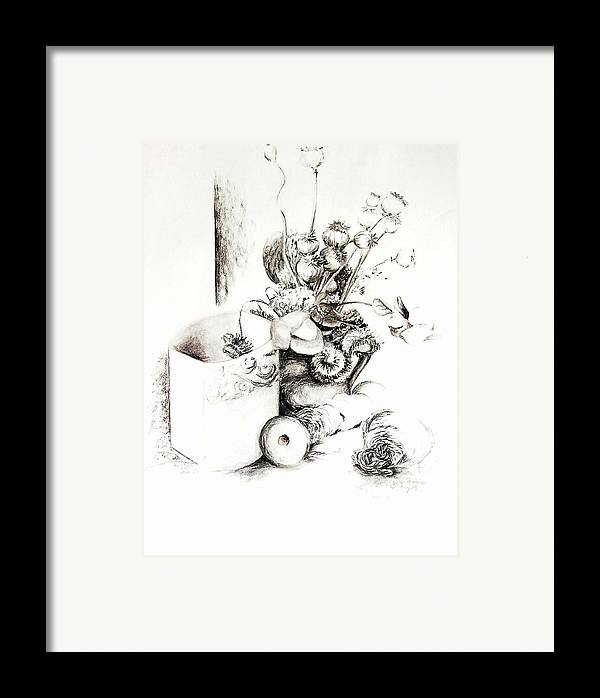 Still Life Framed Print featuring the drawing Sec by Muriel Dolemieux