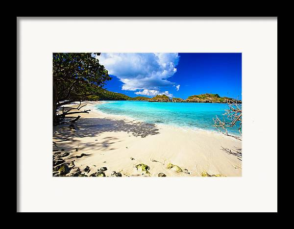 Bathing Framed Print featuring the photograph Secluded Beach by George Oze