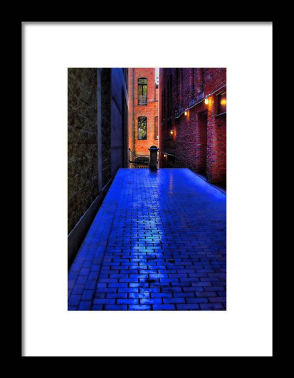 Photo Framed Print featuring the photograph Secluded Patio by David Patterson