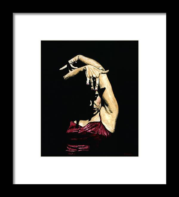 Flamenco Framed Print featuring the painting Seclusion Del Flamenco by Richard Young