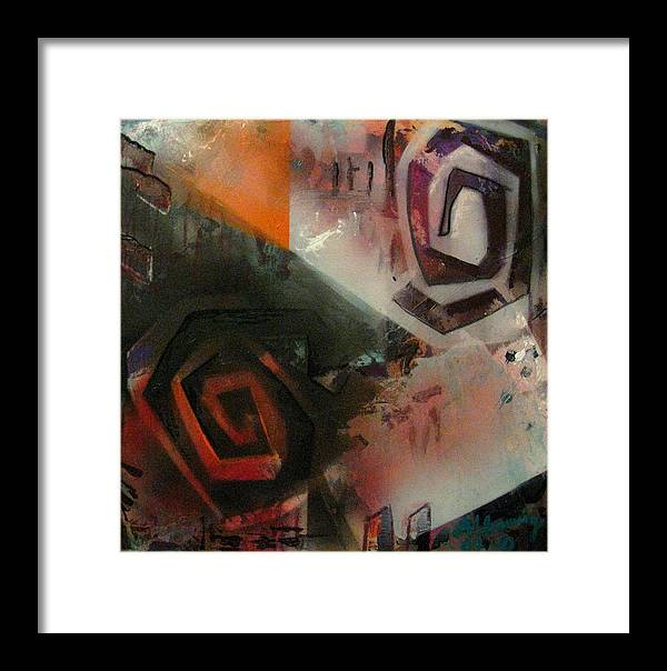 Framed Print featuring the painting Second City Silhouette by Andrea Noel Kroenig