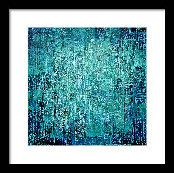 Abstract Framed Print featuring the painting Secret Entry by Dale Witherow