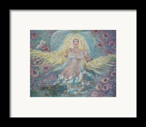 Angel Framed Print featuring the painting Secret Garden Angel 3 by Natalie Holland