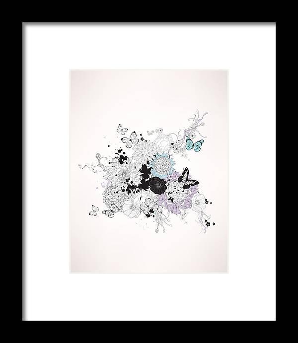 Home Decor Framed Print featuring the digital art Secret Garden by BONB Creative