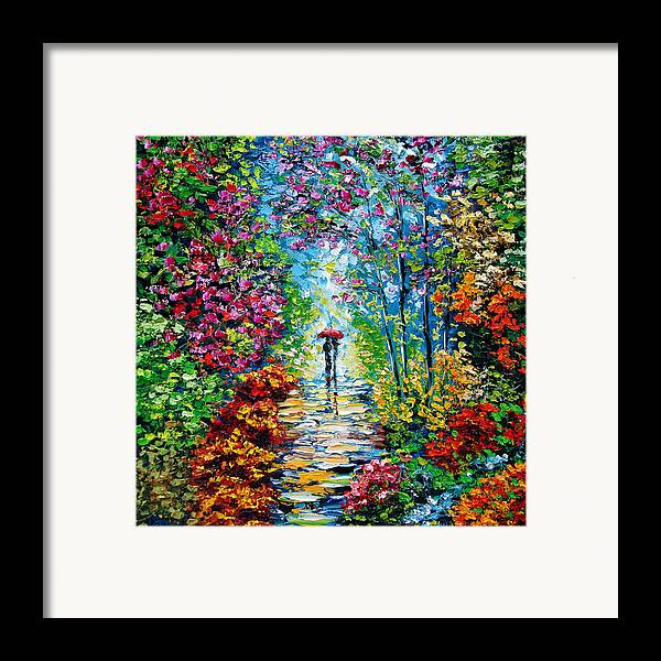 Oil Paining Framed Print featuring the painting Secret Garden Oil Painting - B. Sasik by Beata Sasik