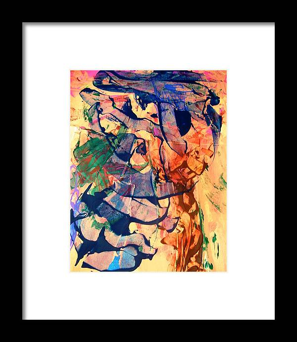 Abstract Framed Print featuring the painting Secret Pentagon Project by Bruce Combs - REACH BEYOND