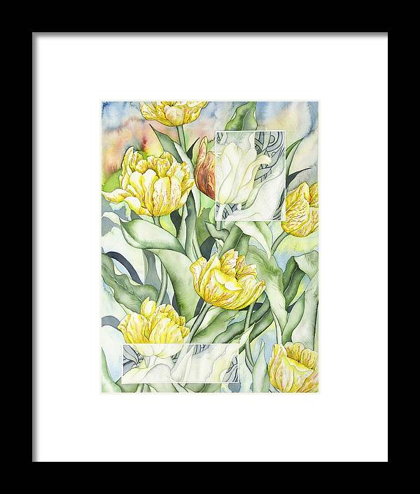 Flowers Framed Print featuring the painting Secret World II by Liduine Bekman