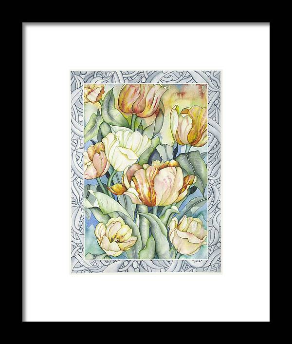 Flowers Framed Print featuring the painting Secret World IIi by Liduine Bekman