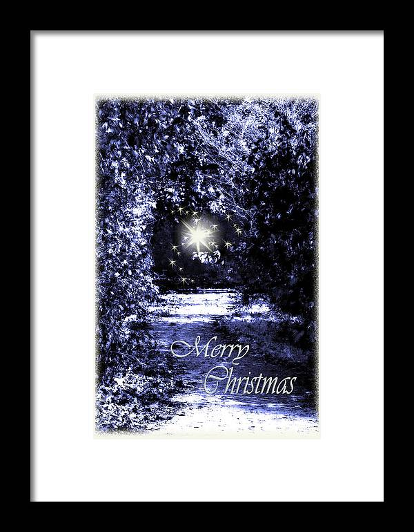 Fantasy Framed Print featuring the photograph Secrets Christmas Card by Cathy Beharriell