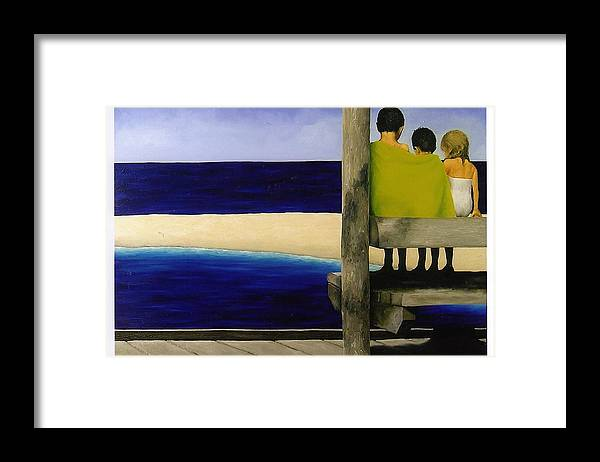 Seascape Framed Print featuring the painting Secrets by Trisha Lambi
