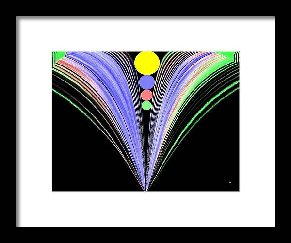 Abstract Framed Print featuring the digital art Security by Will Borden