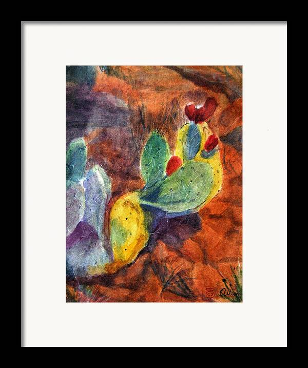 Landscape Framed Print featuring the painting Sedona I by Stephanie Allison