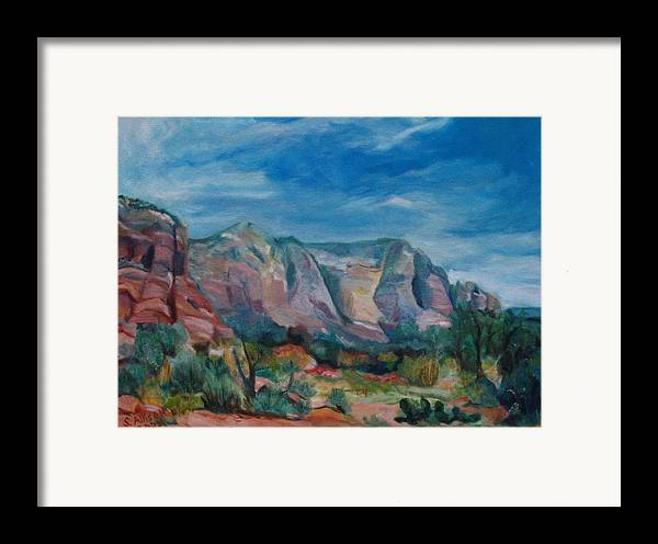 Landscape Framed Print featuring the painting Sedona II by Stephanie Allison