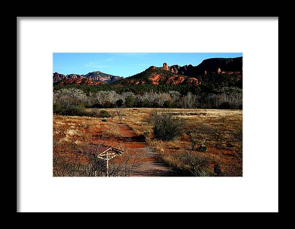 Landscape Framed Print featuring the photograph Sedona by Jennilyn Benedicto