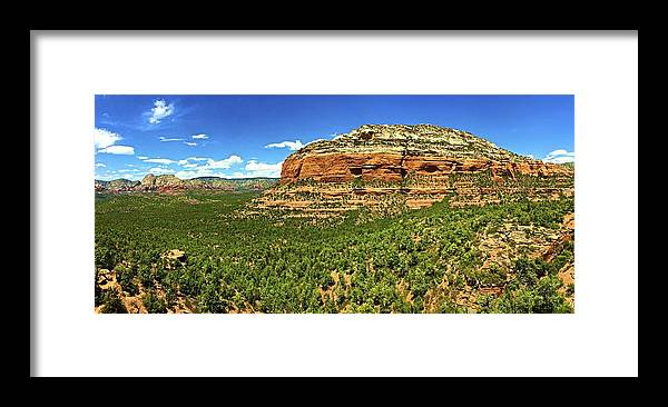Landscape Framed Print featuring the photograph Sedona Landscape by Michael Cappelli