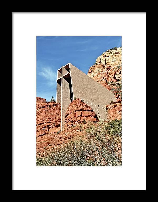 Gabriele Pomykaj Framed Print featuring the photograph Sedona - The Chapel Of The Holy Cross by Gabriele Pomykaj