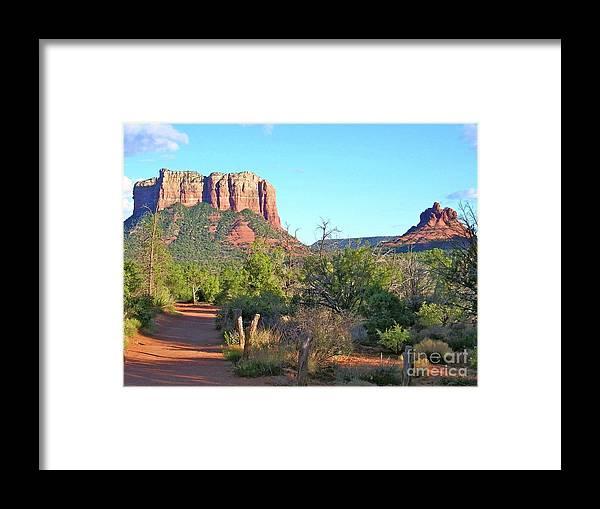 Sedona Framed Print featuring the photograph Sedona Trail by Nicole Fleckenstein