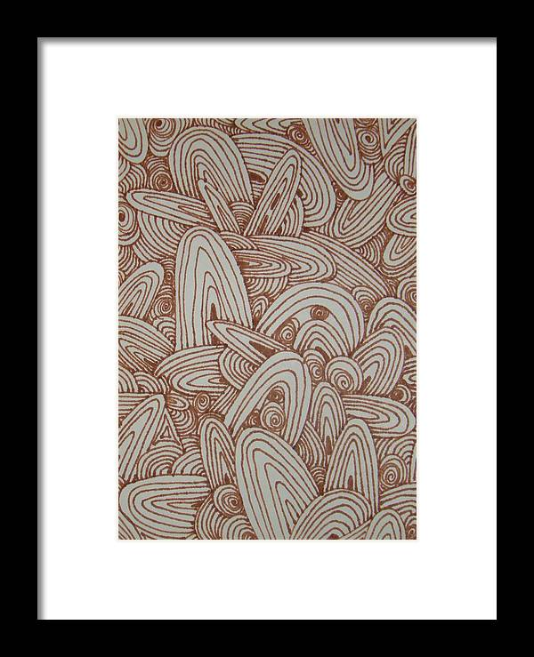Brown Framed Print featuring the drawing See Study Fifteen by Ana Villaronga