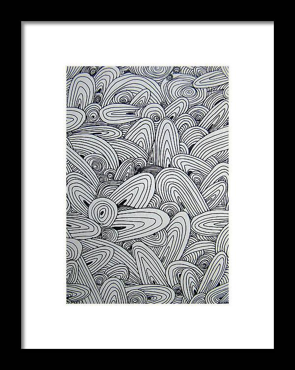 Graphic Framed Print featuring the drawing See Study Nine by Ana Villaronga