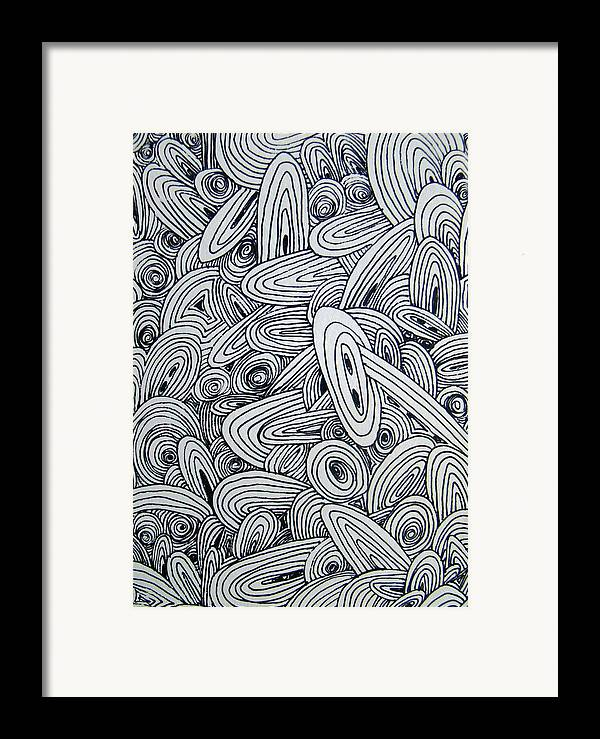 Abstract Framed Print featuring the drawing See Study Six by Ana Villaronga
