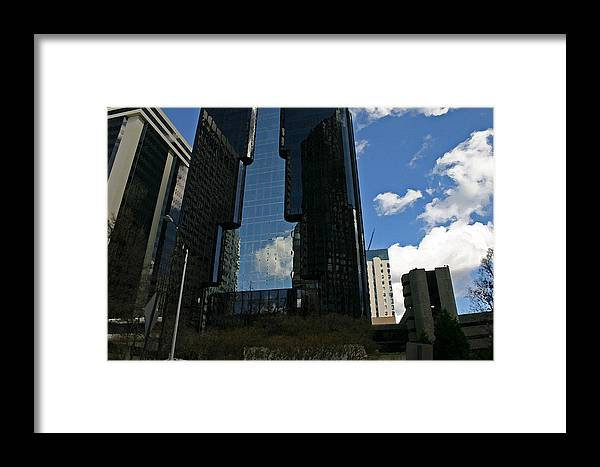 Dark Building Framed Print featuring the photograph See-through Building by Beebe Barksdale-Bruner