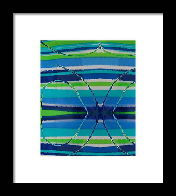 Abstract Framed Print featuring the painting See Thru Blue by Florene Welebny